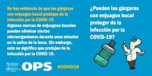 Las gárgaras no protegen del coronavirus